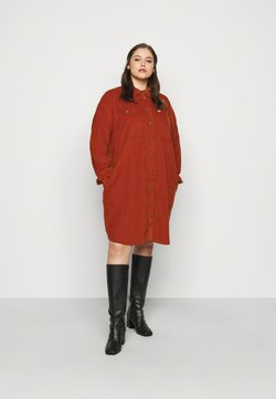 Lee Plus - WORKSHIRT DRESS - Skjortekjole - red ochre