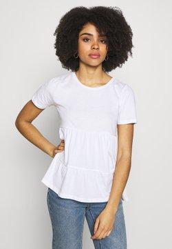 ONLY Petite - ONLAYCA PEPLUM - Camiseta estampada - white