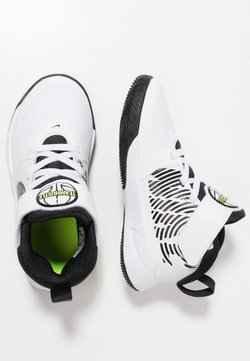 Nike Performance - TEAM HUSTLE 9 UNISEX  - Zapatillas de baloncesto - white/black/volt
