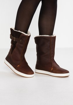 HUB - Snowboot/Winterstiefel - dark brown/off white/dark gum