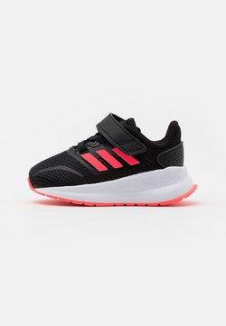 adidas Performance - RUNFALCON I UNISEX - Hardloopschoenen neutraal - core black/signal pink/footwear white