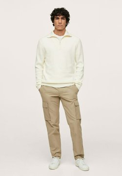 Mango - MERCURIO - Cargo trousers - open beige