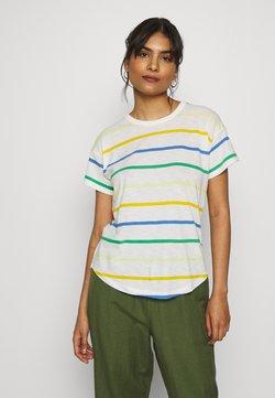 Madewell - WHISPER CREWNECK TEE IN STORM STRIPE - T-Shirt print - hermitage blue