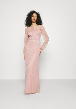 Adrianna Papell - BEADED GOWN WITH FULL SKIRT - Robe de cocktail - candied ginger