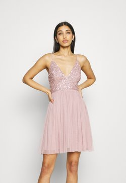 Lace & Beads - AVA SKATER - Juhlamekko - dusty pink