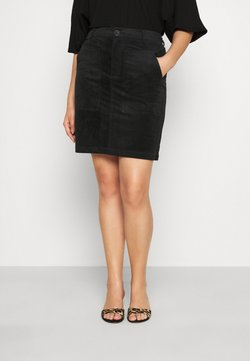 Vero Moda Curve - VMLORA ABOVE KNEE SKIRT - Minirock - black