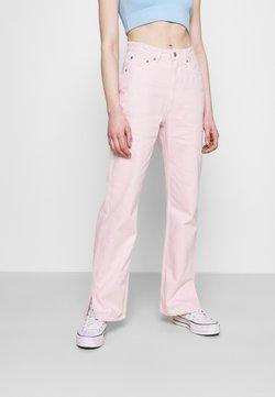 Weekday - ROWE SPLIT - Straight leg -farkut - light pink
