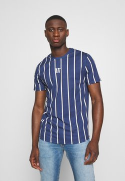 11 DEGREES - VERTICAL STRIPE TEE - Print T-shirt - navy/white