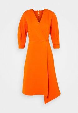 Closet - SHORT SLEEVE WRAP DRESS - Etui-jurk - orange