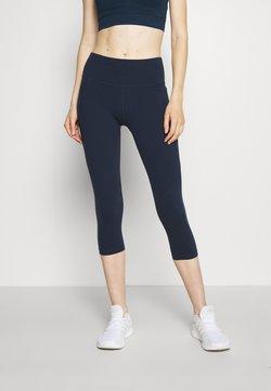 Sweaty Betty - POWER CROP WORKOUT LEGGINGS - Tights - navy blue