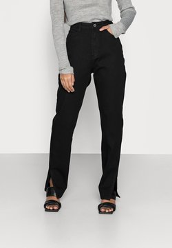 Missguided Petite - COMFORT STRETCH SPLIT - Jeans straight leg - black