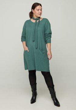 Zizzi - Vestido de punto - dark green