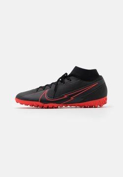 Nike Performance - MERCURIAL 7 ACADEMY TF - Fotballsko for kunstgress - black/dark smoke grey