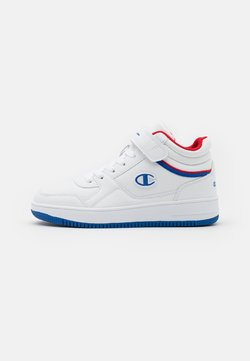 Champion - MID CUT SHOE REBOUND VINTAGE MUNISEX - Basketball shoes - white/retro blue/red