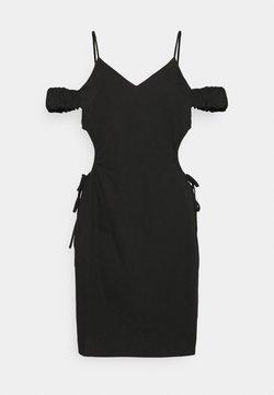 NA-KD - CUT OUT MINI DRESS - Etuikjoler - black