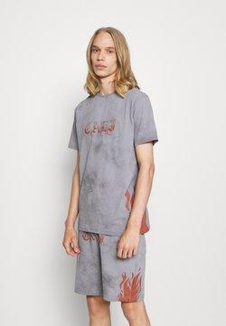 274 - FLAME TEE AND SHORT SET - T-Shirt print - grey