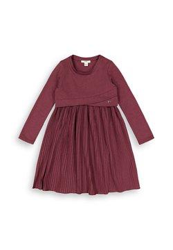 Esprit - MIT PLISSEE - Jerseykleid - plum red