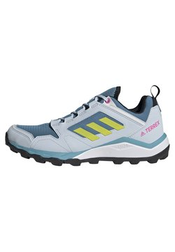 adidas Performance - TERREX AGRAVIC TR - Hiking shoes - hazy blue/acid yellow/crystal white