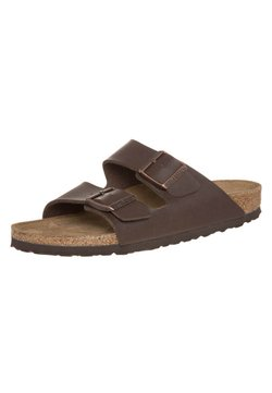 Birkenstock - ARIZONA NARROW FIT - Pantolette flach - dunkelbraun