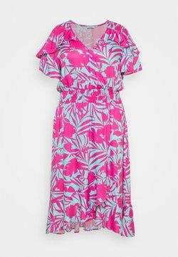Simply Be - FRILL WRAP FRONT MIDI DRESS - Sukienka letnia - aqua