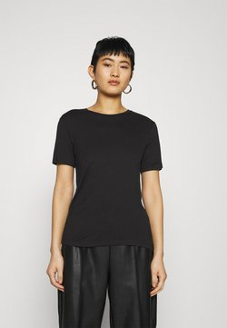 Zign - SILK MIX T-SHIRT  - T-shirt basic - black