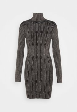 AllSaints - CABLE DRESS - Kotelomekko - black/gold