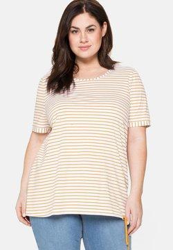 Sheego - T-Shirt print - senfgelb bedruckt