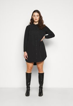 Vero Moda Curve - VMSILLA SHORT DRESS - Blusenkleid - black