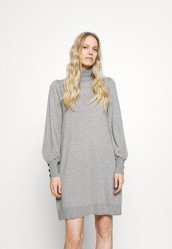 Wallis - ROLL NECK SWING DRESS - Strikkjoler - stone