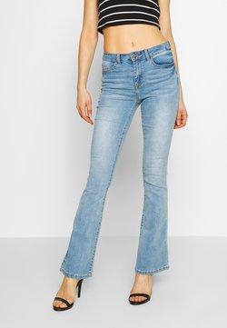 Vila - VIEKKO - Flared Jeans - light blue denim