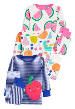 Next - MULTI 3 PACK FRUIT SNUGGLE PYJAMAS (9MTHS-8YRS) - Nachtwäsche Set - blue