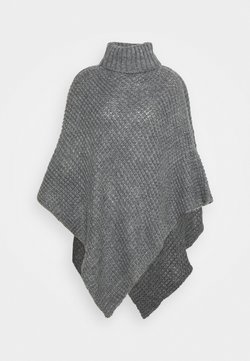 Pieces - PCSTACY PONCHO - Viitta - medium grey melange