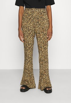 Colourful Rebel - DIANA LEOPARD PANTS - Stoffhose - brown
