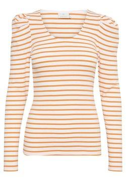 Kaffe - KAKAYLI LIDDY - Langarmshirt - chalk w. orange stripe
