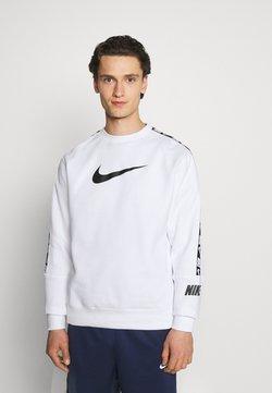 Nike Sportswear - REPEAT CREW - Sweatshirt - white/black