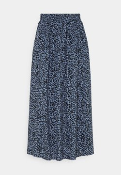 Kaffe - KABARBARA SKIRT - A-Linien-Rock - quiet harbour/black animal