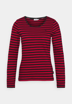 Calvin Klein - SCOOP NECK TOP - Langarmshirt - tango red/black