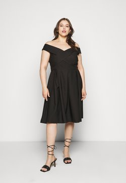 Chi Chi London Curvy - CURVE SEVDA DRESS - Vestido de cóctel - black