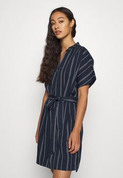 Vero Moda - VMELEN STRIPE SHORT TUNIC - Freizeitkleid - navy blazer/birch