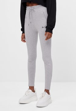 Bershka - AUS PLÜSCH - Legging - light grey