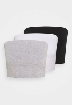 Even&Odd - 3 PACK - Top - black/white/grey