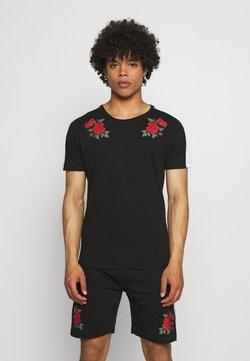 Brave Soul - ROSE PRINTED SET - T-Shirt print - black