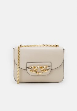 Dorothy Perkins - CUBA CHAIN FRONT CROSS BODY BAG - Sac bandoulière - white