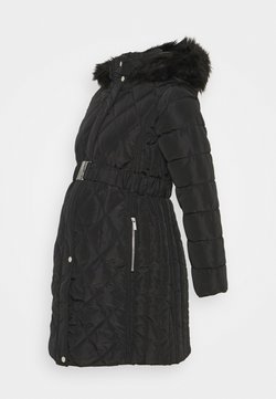 Dorothy Perkins Maternity - QUILT LONG LUXE BELTED COAT - Abrigo de invierno - black