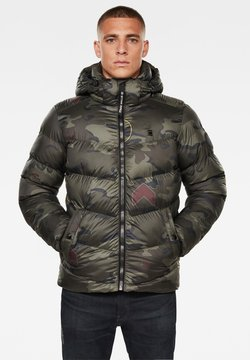 G-Star - WHISTLER HOODED PUFFER - Winterjacke - forest night circle camo
