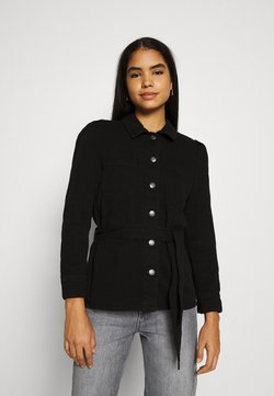 ONLY - ONLMELROSE JACKET YORK - Veste en jean - black denim/washed denim