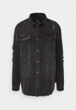 URBN SAINT - JACKIE JACKET - Denim jacket - black/grey