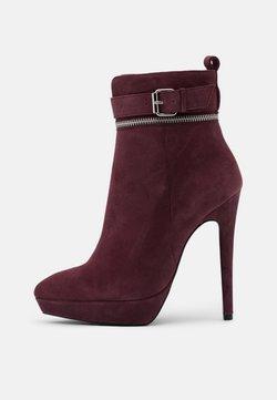 Even&Odd - LEATHER - High Heel Stiefelette - bordeaux