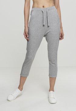 Urban Classics - LADIES OPEN EDGE TERRY TURN UP PANTS - Jogginghose - grey