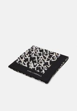 KARL LAGERFELD - GRAFITI SQUARE SCARF - Huivi - black/white